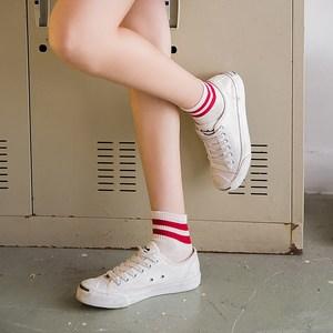 <span class=H>袜子</span><span class=H>女</span>夏季中筒袜日系学院风中袜两杠纯色棉袜韩国<span class=H>全棉</span>四季运动袜