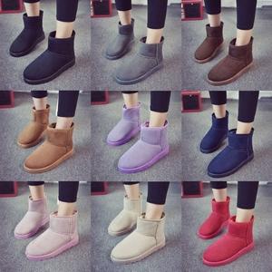 精品冬季雪地靴<span class=H>女</span>简约经典平底短筒<span class=H>靴子</span>加厚加绒保暖棉靴学生棉鞋