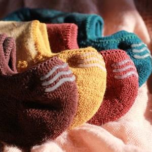 男士加绒加厚<span class=H>船袜</span>纯棉冬季硅胶防滑毛巾底运动浅口隐形袜毛圈袜子