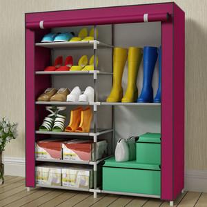 索尔诺时尚纯色简易组合多层大容量家用可放长筒靴子防尘收纳<span class=H>鞋柜</span>