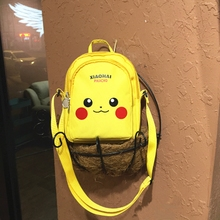 Ins Pikachu Inclined Crossing Bag Breastbag Korean Cartoon Retro Cute Backpack One Shoulder Inclined Bag