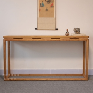 老榆木 条案简约实木供桌条几现代玄关桌新中式仿古家具<span class=H>案台</span>特价