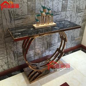 现代中式玄关桌玄关几客厅沙发背几理石端景台<span class=H>案台</span>样板房家具定制