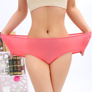 大码胖mm200斤加肥加大中腰竹纤维薄款透气莫代尔收腹三角<span class=H>内裤</span>女